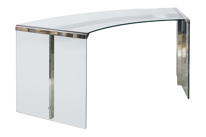 Eckschreibtisch glas  President Junior Curved Desk