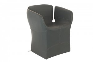 """Bloomy Conference Chair"" in Leder Verde..."