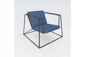 "Loungesessel ""Heavy Metal Chair S"" in denim"