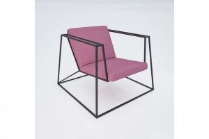 "Loungesessel ""Heavy Metal Chair S"" in peony"