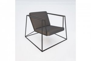 "Loungesessel ""Heavy Metal Chair"" in grau"