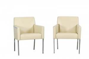"""Steel"" 2-tlg. Set Loungesessel in Leder -..."