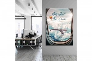 Wandbild Inspiration - SKY ISN\'T THE LIMIT