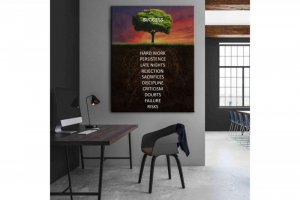 Wandbild Motivation - BAUM DES ERFOLGES - SUCCESS