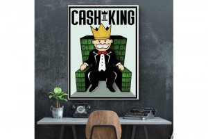 Wandbild Motivation - CASH IS KING