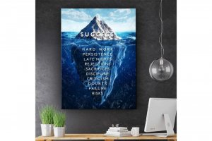 Wandbild Motivation - EISBERG DES ERFOLGES - SUCCESS