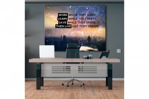 Wandbild Motivation - LIVE LIKE THEY DREAM