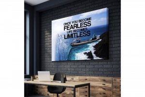 Wandbild Motivation - ONCE YOU BECOME FEARLESS LIFE...